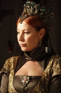 """Hürrem Sultan - Magnificent Century - """"The Offensive"""" Season Episode 6 Sultan Pictures, Tudor Era, Turkish Beauty, Theatre Costumes, Fantasy Costumes, Royal Jewels, Ottoman Empire, Beautiful One, Powerful Women"""