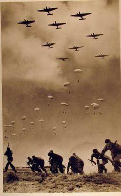 An amazing photo--World War II.