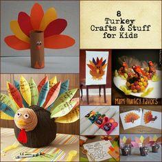 8 Thanksgiving Turkey Crafts for Kids