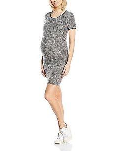 14, Grey, New Look Maternity Women's Snikerdoodle Short Sleeve Body Con Maternit