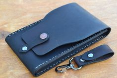 Case for iPhone 6 - Handmade Leather iPhone 6 Pouch / - Pouch on the belt - Dark Brown