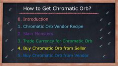 Chromatic orb vendor recipe Picking up chromatic orbs that dropped Trade poe currency for chromatic orbs Buy chromatic orbs from Seller Buy chromatic orbs from Vendor Vendor Recipe, Farming Guide, Divination Cards, Recipes, Ripped Recipes, Cooking Recipes, Medical Prescription