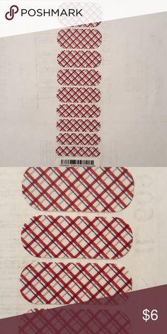 Half Jamberry Sheet Burgundy lattice Makeup