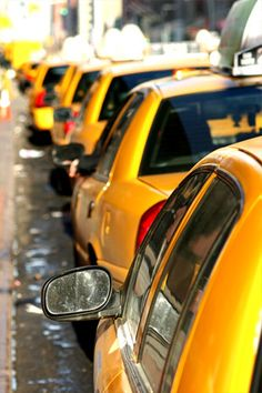 Yellow is usually associated with Taxis in the US- Why? Much for the same reason as ambulances in the UK are yellow- to proclaim and almost shout 'ATTENTION!'