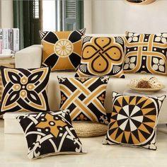 Pineapple Leaf Yellow Pillow Case Sofa Car Waist Throw Cushion Square Cover YW