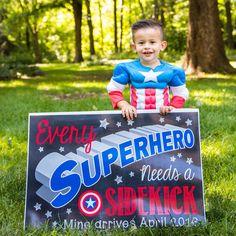 "pregnancy announcement ☺️ ""every superhero needs a sidekick"" #bigbrother #pregnancyannouncement #babynumber2"