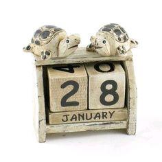 shabby chic turtle calendar