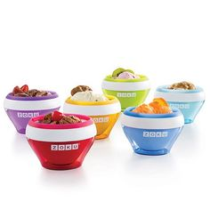 zoku-ice-cream-makers, use Greek Yogurt and some type of milk for frozen yogurt