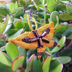 #butterfly #macramè #handmade Interamente realizzata com i nodi del macramè