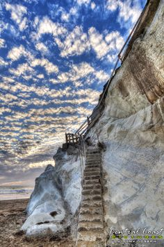 Old Stairs, Pismo Beach, California, by Amy Joseph of Central Coast Pictures - www.CentralCoastPictures.com Pismo Beach, Central Coast, Serenity, Cool Pictures, Surfing, Stairs, California, Places, Nature