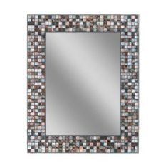 Deco Mirror, 30 in. L x 24 in. W Earthtone Copper-Bronze Mosaic Tile Wall Mirror, 1211 at The Home Depot - Mobile