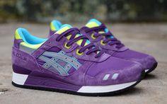 Asics Gel Lyte III | Purple, Yellow & Blue