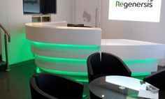 Curved Glacier White Corian® Reception Desk by JBL Furniture http://www.cdukltd.co.uk/