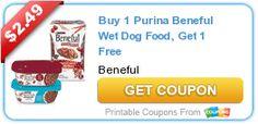 Buy 1 Purina Beneful Wet Dog Food, Get 1 Free