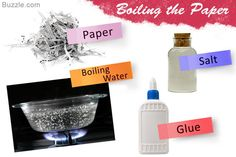Paper Mache By Boiling the Paper