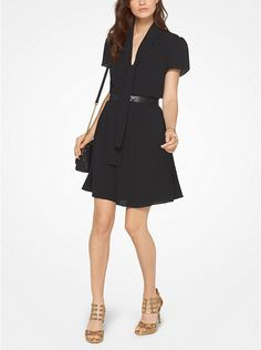 Michael Kors Tie-Neck Dress #mk
