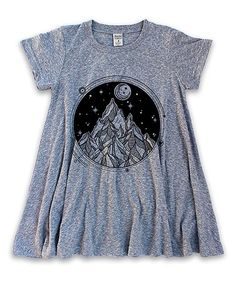 Look at this #zulilyfind! Heather Gray Mountains & Moon Swing Tunic - Toddler & Girls #zulilyfinds