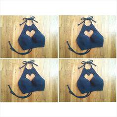 Hear Cut Out Halter Crochet Halter Top por LostCulture en Etsy