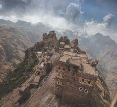 The rugged terrain of Yemen