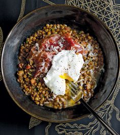 WARM PARDINA LENTIL SALAD WITH GOAT CHEESE AND SMOKED PAPRIKA RECIPE ...