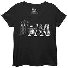 Doctor Who Abby Road Mashup T-Shirt #drwho #fashion #tardis #weepingangel