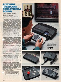 TurboGrafx16. I'm glad I got one when I did at the time. I actually got this before the Super Nintendo. Which I eventually got later. It's harder to get a TG16 now. So I chose wisely.