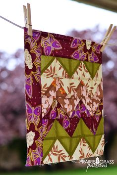 chevron dreams quilt block tutorial.  would like this better with a border on all four sides