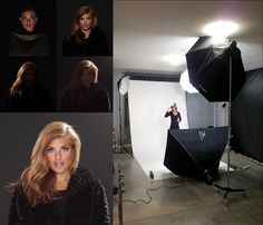4 light set up...2 kickers for hair light. Looks so much better than '80s hair light right behind the neck!
