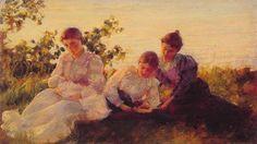 Three women, 1894. Charles Courtney Curran (1861 – 1942). American painter.