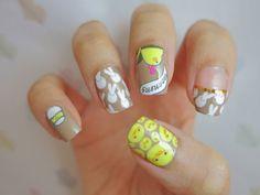 Easter Bunny and Chicks Nail Wrap Nail Art A1033