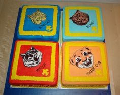 Cub Scouts Blue & Gold Award Cakes By SheilaF on CakeCentral.com