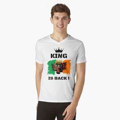 #thekingisback #conormcgregor #ufc #mma #findyourthing #shirtsonline #trends #riveofficial #favouriteshirts  #art #style #design #shopping #redbubble #digitalart #design #fashion #phonecases #customproducts #onlineshopping #accessories #shoponline #onlinestore Conor Mcgregor, Ufc, Tshirt Colors, Neck T Shirt, Heather Grey, Shirt Designs, King, V Neck, Slim
