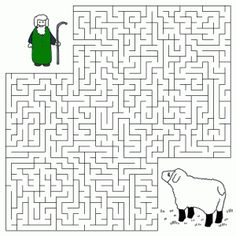 christian games for children | Good Shepherd and the Lost Sheep Maze