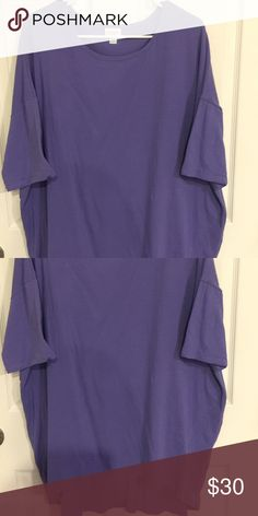 EUC!! Worn once!! XL LuLaRoe Irma EUC!!! Worn once, briefly, just too big for me. Such a pretty shade of purple!! Cottony material. LuLaRoe Tops