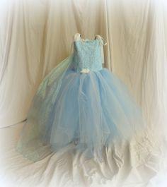Tutu dressElsa Frozen tutu dress Frozen by ritarebellodesigns, $105.00