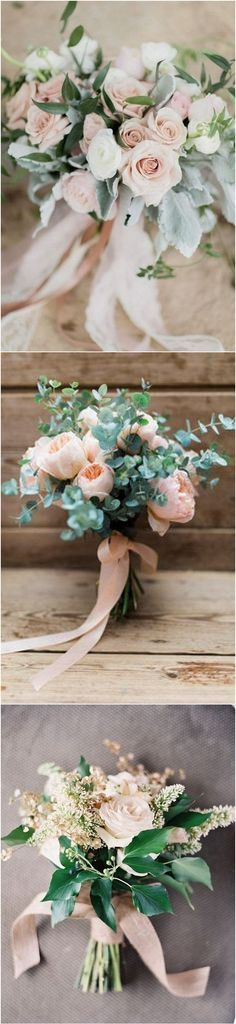 blush pink wedding bouquet ideas for spring and summer 2019