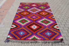 Real Turkish Kilim Rugs and Pillows from KilimRugAvenue. Turkish Kilim Rugs, Bohemian Rug, Free Shipping, Pillows, Vintage, Decor, Decoration, Vintage Comics, Cushions