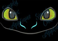 Instant Download Toothless Dragon Face by SimplyChicApplique, $3.00