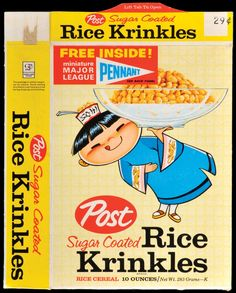 Rice Krinkles, 1963.  Notice the free major league pennants inside.  I had all of them.