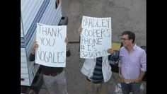 Zach Galifianakis giving bradley coopers number...must figure out last two digits!