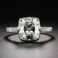 2.32 Carat Antique Cushion-Cut Diamond Vintage Style Ring