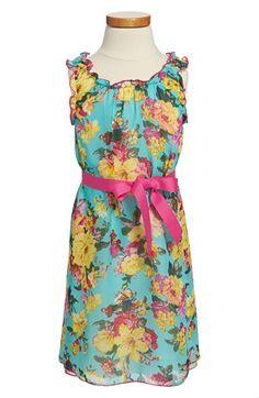 Twirls & Twigs Ribbon Belt Floral Dress (Little Girls & Big Girls) available at #Nordstrom