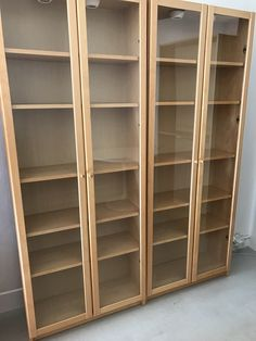 Ikea Billy Bookcases With Gl Doors