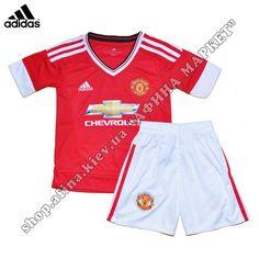 Детская форма Манчестер Юнайтед Adidas 2015-2016 домашняя БЕСПЛАТНАЯ ДОСТАВКА! Нанесение на форму всего 75 грн с отправкой в день заказа. Звоните: 0500477432, 0934000825