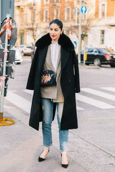Caroline Issa, street style, blazer and jeans outfit Fashion Moda, Boho Fashion, Autumn Fashion, Jeans Fashion, Katie Holmes, Caroline Issa, Short Playsuit, Dressing, Gucci