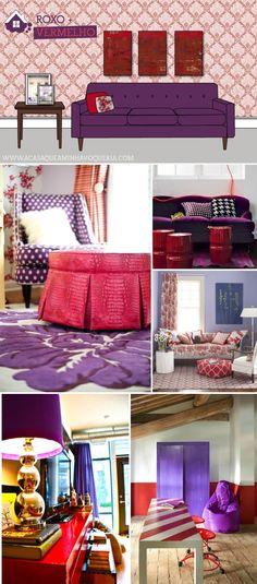 5 maneiras de usar Roxo na decoração.