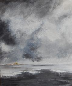 """Storm at Sea. Emulation of a Strindberg painting. 2015. Oil on canvas. 10""""x12"""""""