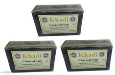 Checkout this latest Bath Scrubs & Soaps Product Name: *KHADI CHARCOAL SOAP PACK OF 3* Product Name: KHADI CHARCOAL SOAP PACK OF 3 Brand Name: Khadi Type: Solid Multipack: 3 Country of Origin: India Easy Returns Available In Case Of Any Issue   Catalog Rating: ★4 (1571)  Catalog Name: Khadi Handmade Soap Vol 4 CatalogID_113712 C177-SC2058 Code: 381-961652-222