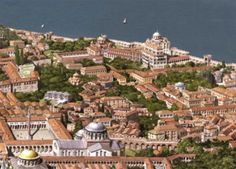 Roman/Byzantine architecture illustrations, portraits and Scenes, by Antoine Helbert Byzantine Architecture, Ancient Greek Architecture, Roman Architecture, Historical Architecture, Constantinople Map, Roman Pictures, Monuments, Roman History, Story Of The World