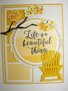 Stampin' Up! Colorful Season Paint Chip Cards, Retirement Cards, Beach Cards, Birthday Cards For Women, Stampin Up Catalog, Friendship Cards, Stamping Up Cards, Die Cut Cards, Fall Cards